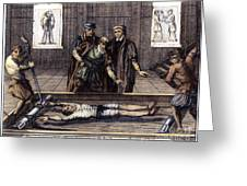Torture, 16th Century Greeting Card