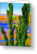 Totem Cactus Greeting Card