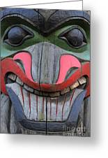 Totem Pole 12 Greeting Card