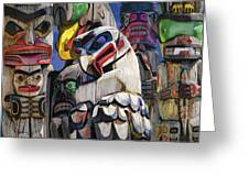 Totem Poles In The Pacific Northwest Greeting Card
