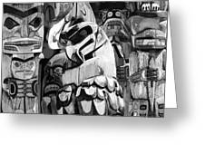 Totem Poles On Vancouver Island Greeting Card
