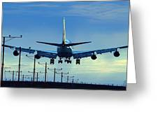 Touchdown In Blues Greeting Card