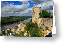 Tour Du Moulin And The Loire River Greeting Card