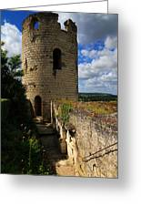 Tour Du Moulin At Chateau Chinon Greeting Card