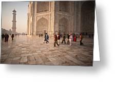 Touring Taj Greeting Card