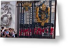 Tourists At Changing Of The Guards Greeting Card