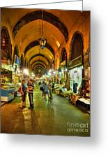 Tourists At The Grand Bazaar Greeting Card