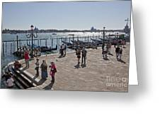 Tourists In Venice Greeting Card