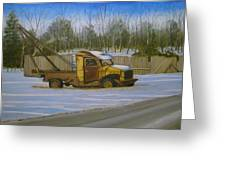 Tow Truck On Burgoyne Ave. Greeting Card by Mark Haley
