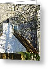 Tower And Thatch Greeting Card