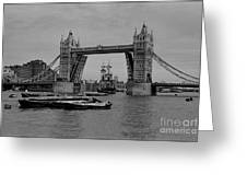 Tower Bridge And The Endeavor Greeting Card