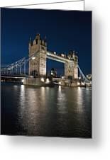 Tower Bridge Dusk Greeting Card