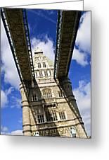 Tower Bridge In London Greeting Card