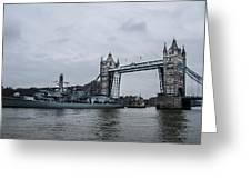 Tower Bridge Open Greeting Card