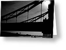 Tower Bridge Silhouette Greeting Card