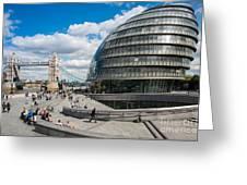 Tower Bridge With City Hall Greeting Card