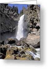 Tower Fall Of Yellowstone Greeting Card