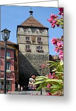 Tower In Old Town Rottweil Germany Greeting Card by Matthias Hauser