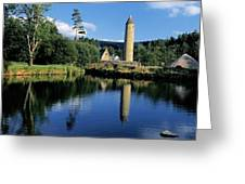Tower Near A Lake, Round Tower, Ulster Greeting Card