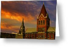Towers Of Faith Greeting Card