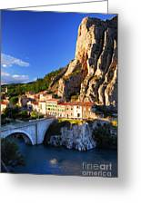 Town Of Sisteron In Provence France Greeting Card