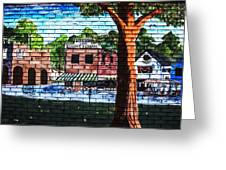 Town Wall Art Greeting Card