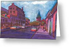 Town With Colors Greeting Card