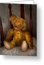 Toy - Teddy Bear - My Teddy Bear  Greeting Card by Mike Savad