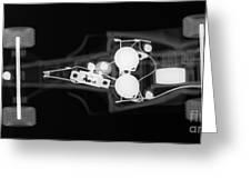 Toy Car X-ray Greeting Card