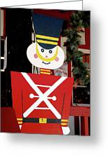 Toy Soldier Christmas In Virginia City Greeting Card