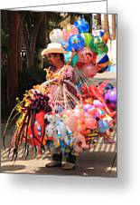 Toy Vender In San Jose Del Cabo Mexico Greeting Card