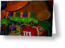 Toys Toys Toys Greeting Card