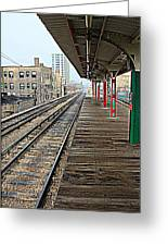 Track Lines Greeting Card
