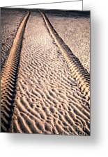 Tracks In The Sand Greeting Card