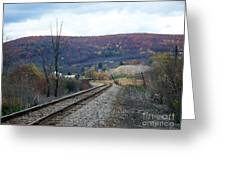 Tracks In The Valley Greeting Card