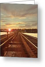 Tracks To Greatness Greeting Card
