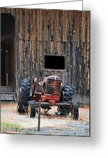 Tractor And The Barn Greeting Card