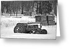 Tractor At The Mill  Greeting Card