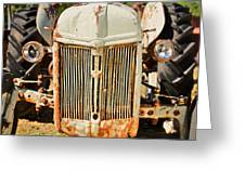 Tractor Face Greeting Card