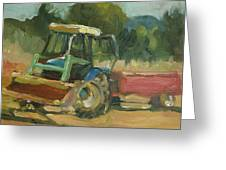 Tractor In Italy Greeting Card