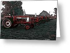 Tractor Row Greeting Card