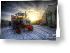 Tractor Sunrise Greeting Card