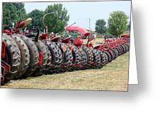 Tractor Tires Greeting Card