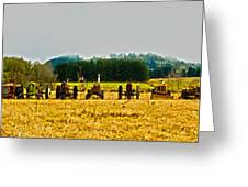 Tractors Ready Greeting Card