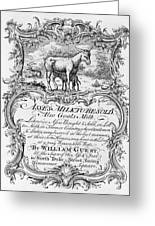 Trade Card: Milk, 1700s Greeting Card
