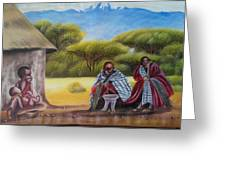 Traditional African Men Greeting Card