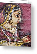 Traditional Painting On A Wall Jodhpur Greeting Card