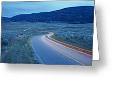 Traffic At Dusk Greeting Card