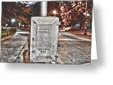 Traffic Control Box Greeting Card