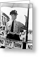 Traffic Cop, 1936 Greeting Card
